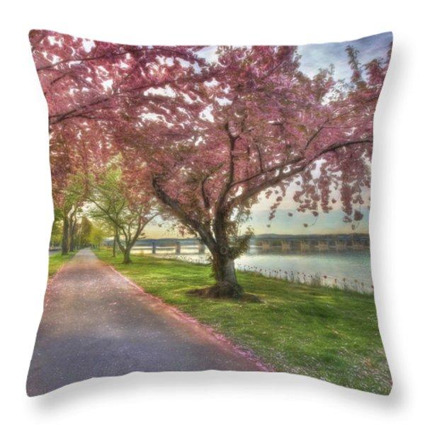Memories Of Spring Throw Pillow by Lori Deiter