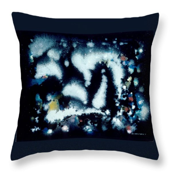 Mephitis Mephitis Nocturnal Throw Pillow by Lee Pantas
