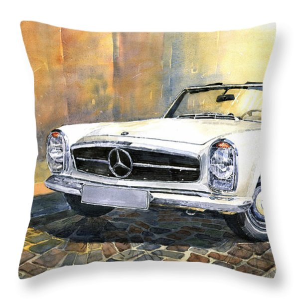 Mercedes Benz W113 280 Sl Pagoda Front Throw Pillow by Yuriy  Shevchuk