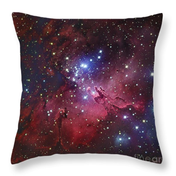 Messier 16, The Eagle Nebula In Serpens Throw Pillow by Robert Gendler