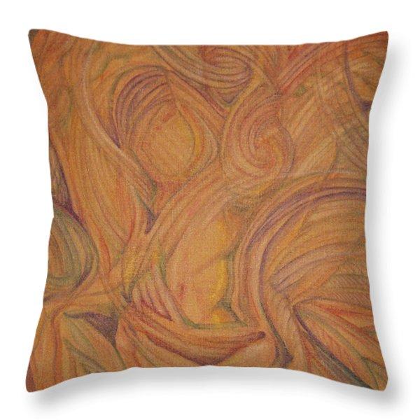 Meta Throw Pillow by Caroline Czelatko