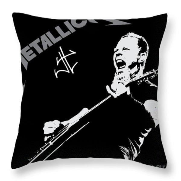 Metallica Throw Pillow by Caio Caldas