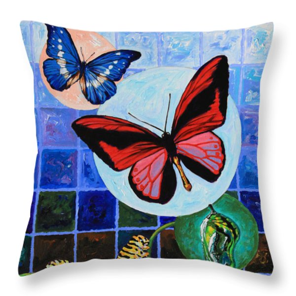 Metamorphosis of the New Life Throw Pillow by John Lautermilch