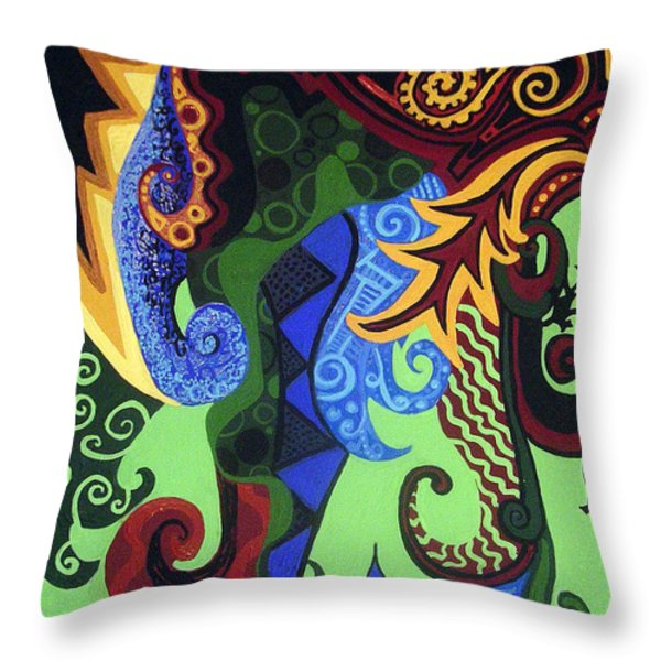 Metaphysical Fauna Throw Pillow by Genevieve Esson