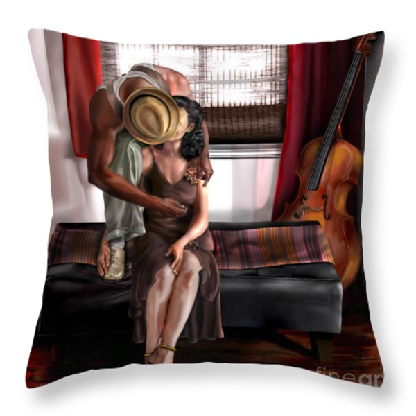 Mi Chica-amo A Mi Esposita  Throw Pillow by Reggie Duffie