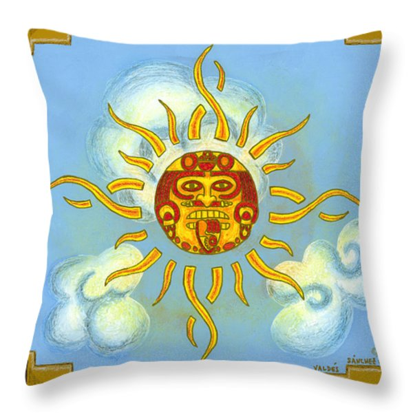 Mi Sol Throw Pillow by Roberto Valdes Sanchez