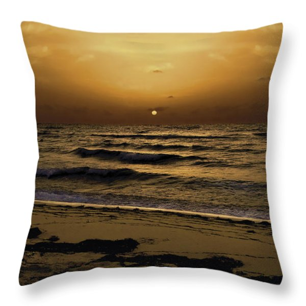 Miami Sunrise Throw Pillow by Gary Dean Mercer Clark