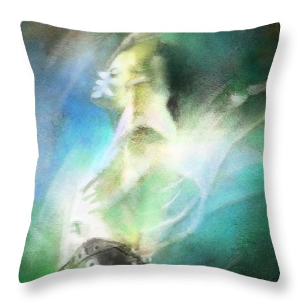 Michael Jackson 15 Throw Pillow by Miki De Goodaboom