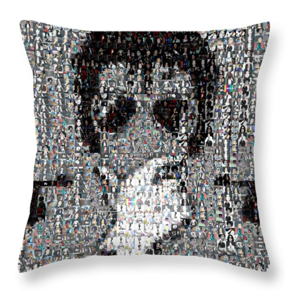 Michael Jackson Glove Montage Throw Pillow by Paul Van Scott