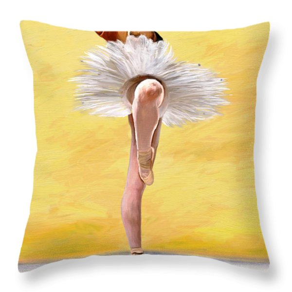 Michele Wiles Throw Pillow by James Shepherd