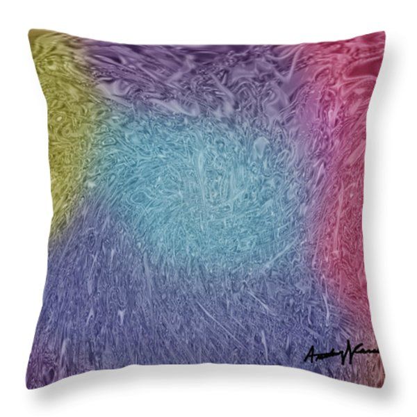 Microbes Throw Pillow by Anthony Caruso