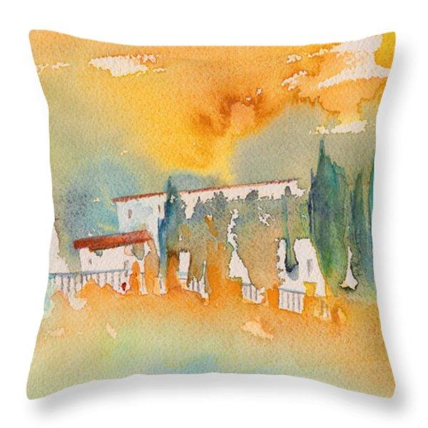 Midday 07 Throw Pillow by Miki De Goodaboom