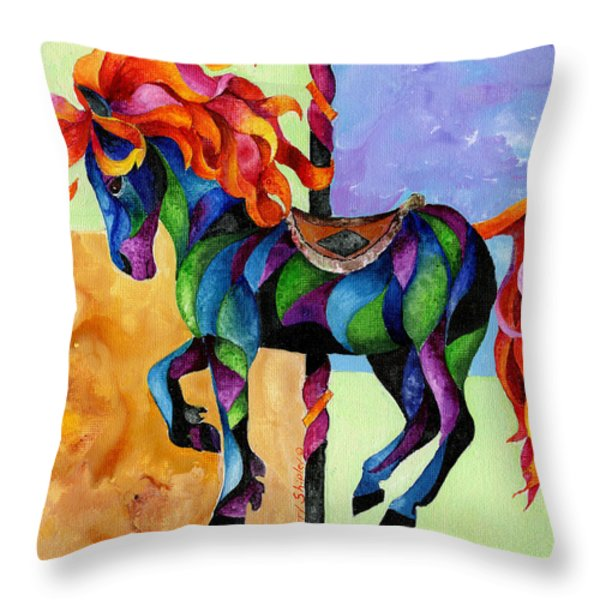 Midnight Fire Throw Pillow by Sherry Shipley