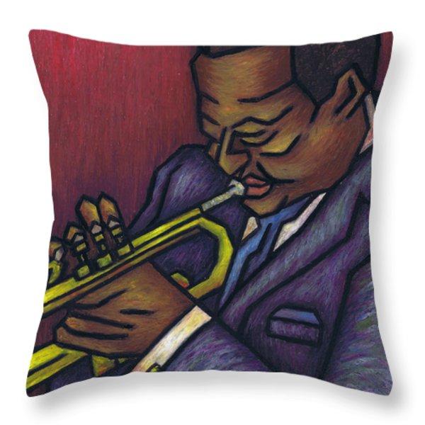 Miles Davis Throw Pillow by Kamil Swiatek