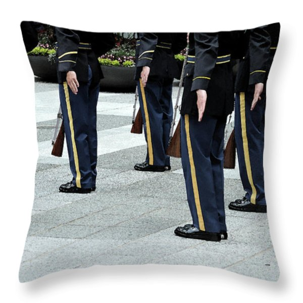 Military Formation Throw Pillow by Karol  Livote