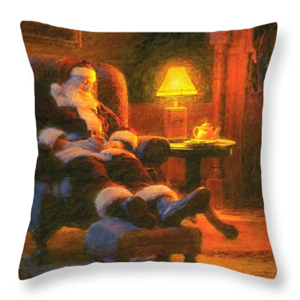 Milk And Cookiezzzzz Throw Pillow by Greg Olsen