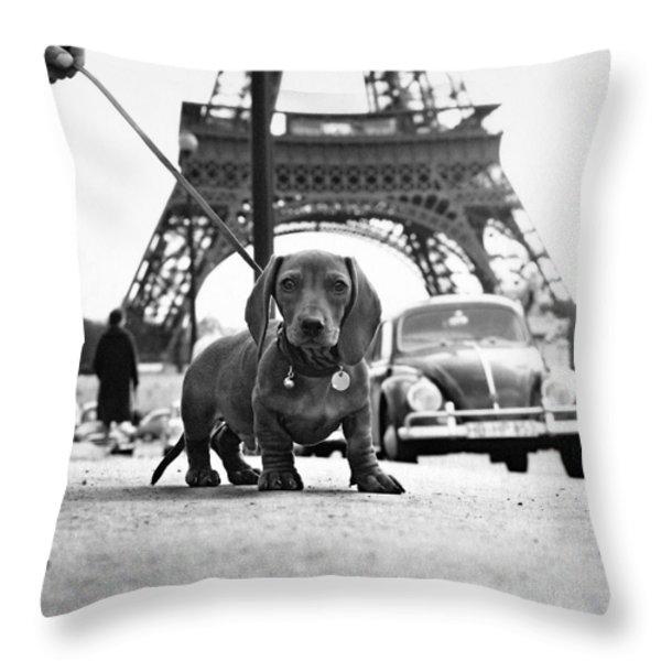 Milo mon Chien Throw Pillow by Hans Mauli