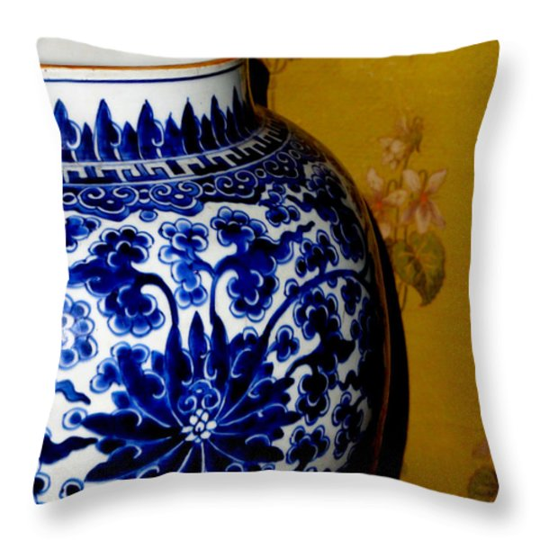 Ming Vase Throw Pillow by Al Bourassa
