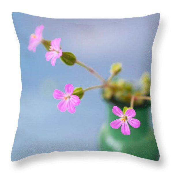 Miniature Posy Throw Pillow by Jan Bickerton