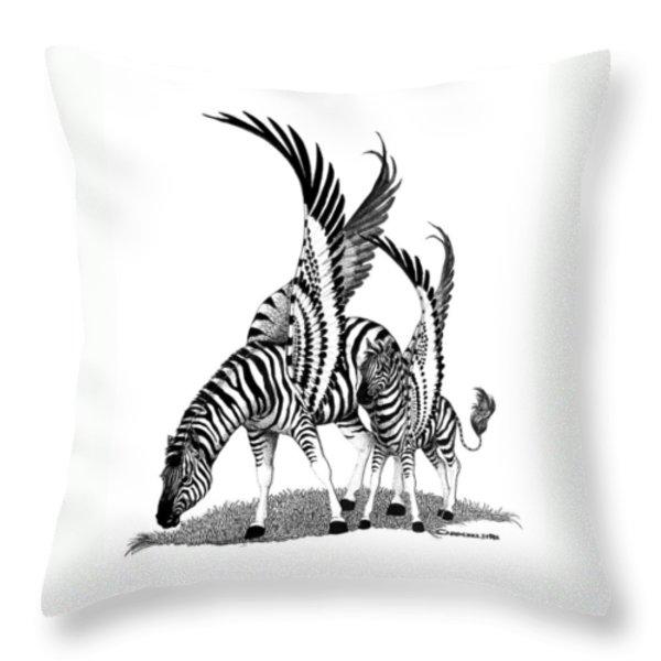 Mirage  Detail Throw Pillow by Caroline Czelatko