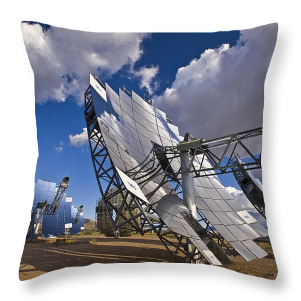 Mirror Arrays Concentrate Light Making Throw Pillow by Michael Melford