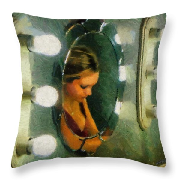 Mirror Mirror On The Wall Throw Pillow by Jeff Kolker