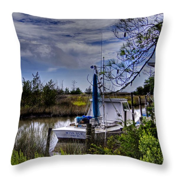 Miss Sue Throw Pillow by Benanne Stiens