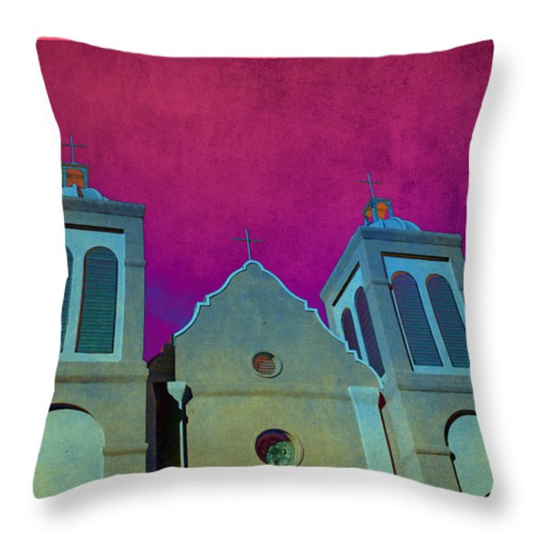 Mission New Mexico Var.2 Throw Pillow by Susanne Van Hulst