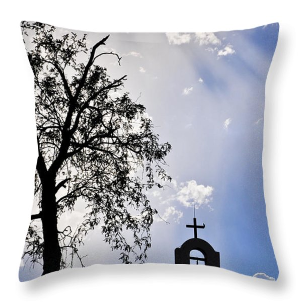 Mission Throw Pillow by Skip Hunt