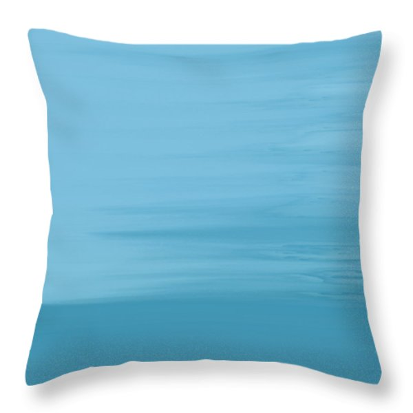 Throw Pillow featuring the painting Misty Sea by Frank Tschakert