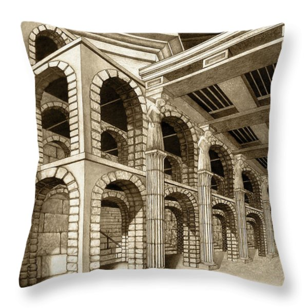 Mithlond Gray Havens Throw Pillow by Curtiss Shaffer