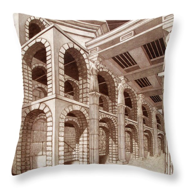 Mithlond Gray Havens In Sepia Throw Pillow by Curtiss Shaffer