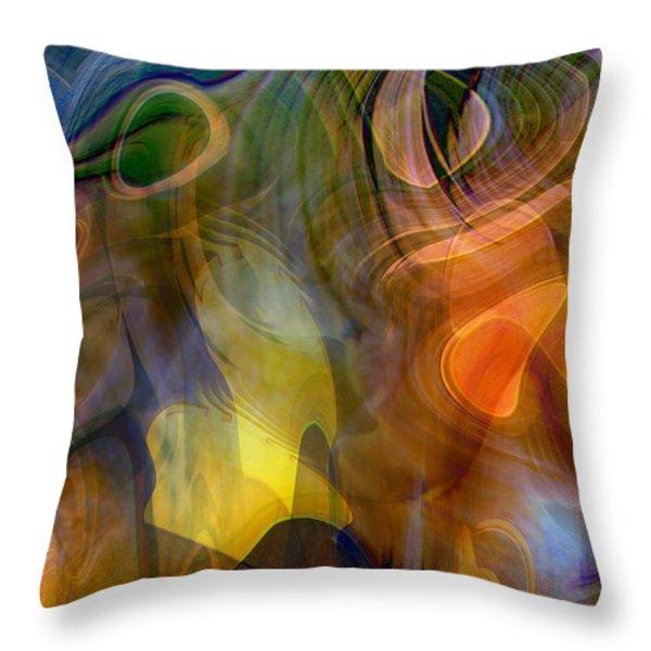 Mixed Emotions Throw Pillow by Linda Sannuti