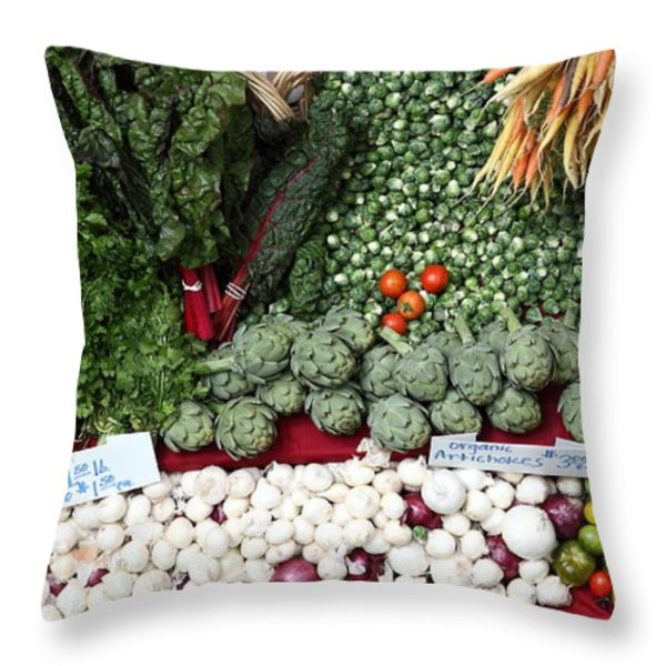 Mixed Vegetables - 5D17086 Throw Pillow by Wingsdomain Art and Photography