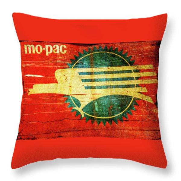 Mo-Pac Caboose  Throw Pillow by Toni Hopper