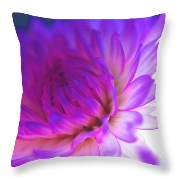 Mod Dahlia Throw Pillow by Kathy Yates