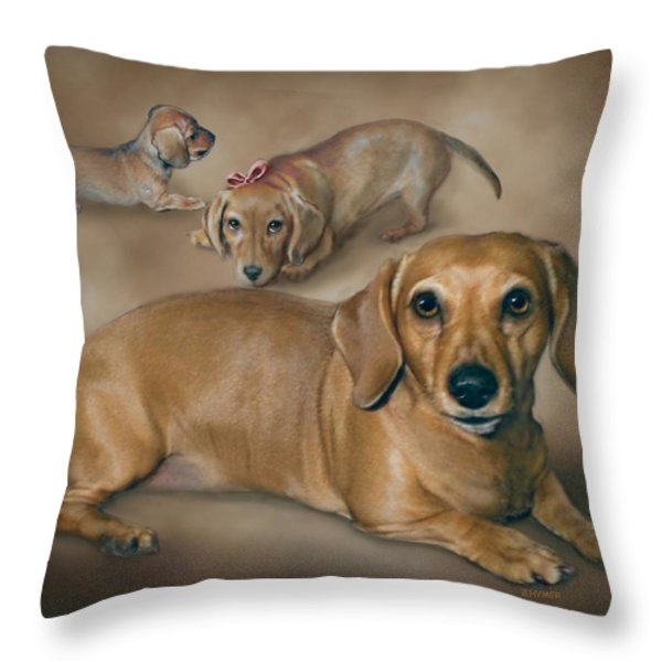 Molly Throw Pillow by Barbara Hymer