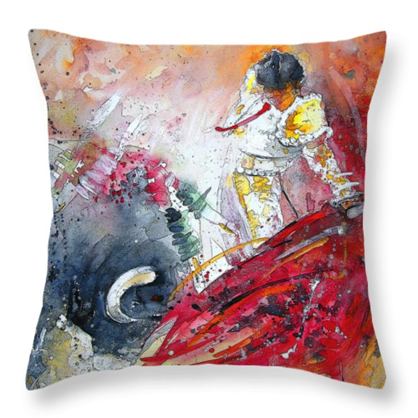 Moment of Truth 2010 Throw Pillow by Miki De Goodaboom