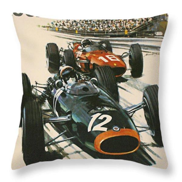 Monaco Grand Prix 1967 Throw Pillow by Georgia Fowler
