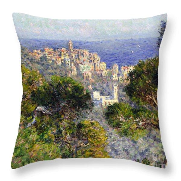 Monet: Bordighera, 1884 Throw Pillow by Granger