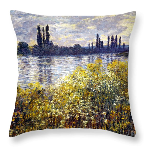 Monet: Seine/vetheil, 1880 Throw Pillow by Granger