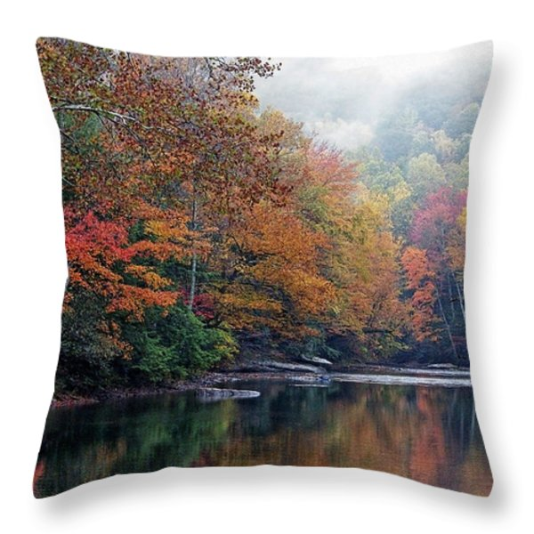Monongahela National Forest Throw Pillow by Thomas R Fletcher
