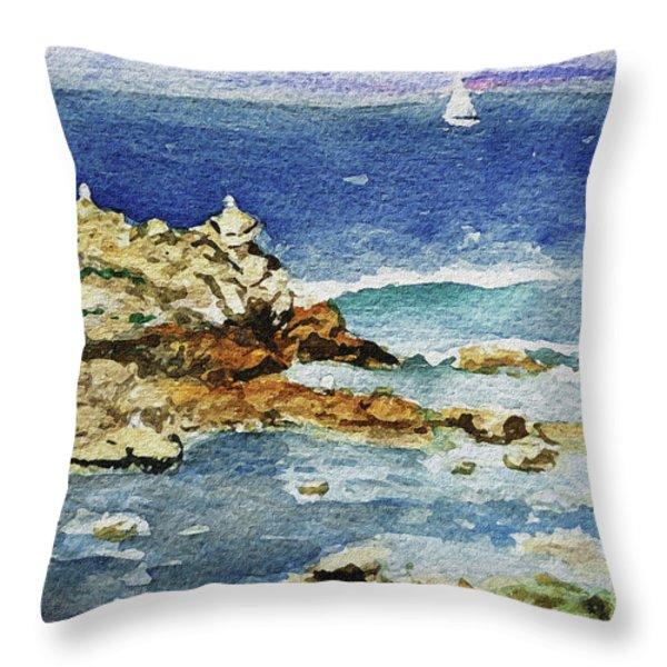 Monterey Throw Pillow by Irina Sztukowski