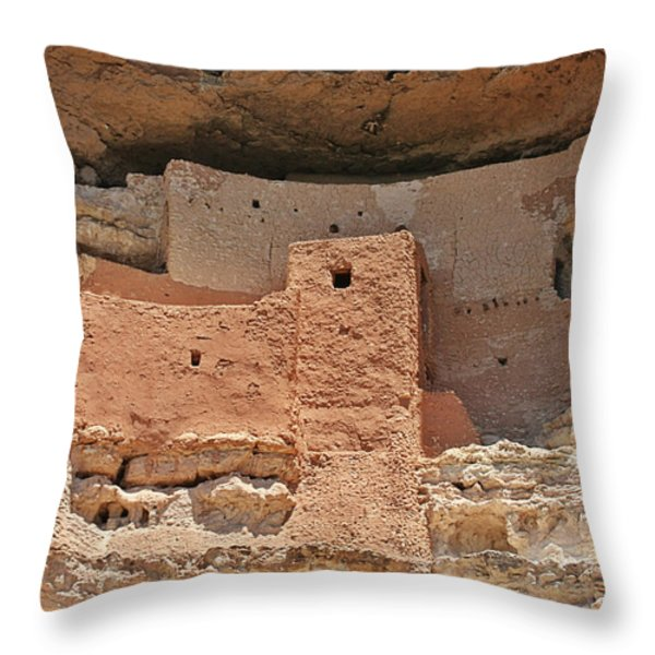 Montezuma Castle - Special in it's own way Throw Pillow by Christine Till