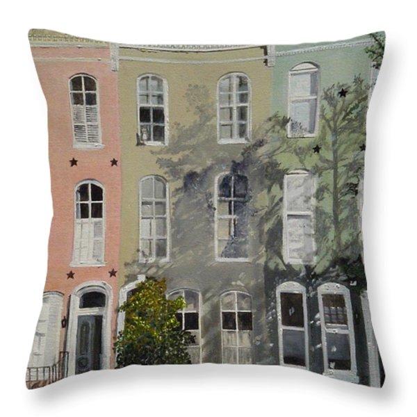 Montgomery Street Trio Throw Pillow by John Schuller
