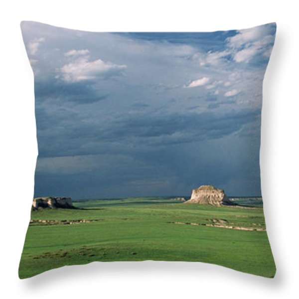 Moody-Buttes Throw Pillow by Jim Benest