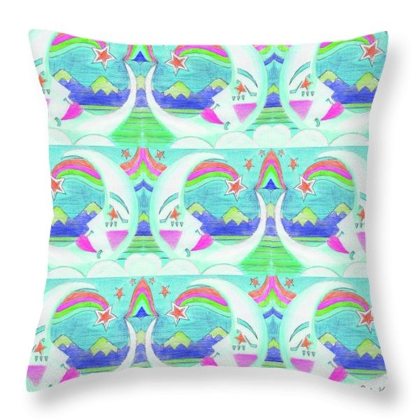 Moon Pattern 2 Throw Pillow by John Keaton