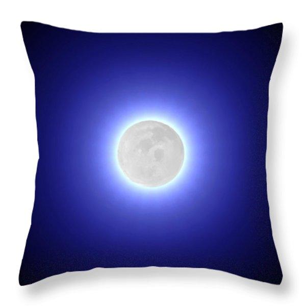 Moon Throw Pillow by Pet Serrano