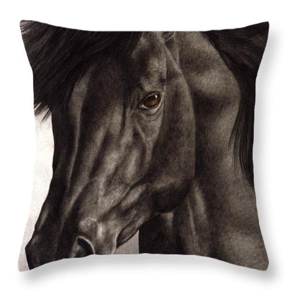 Moondark Throw Pillow by Pat Erickson