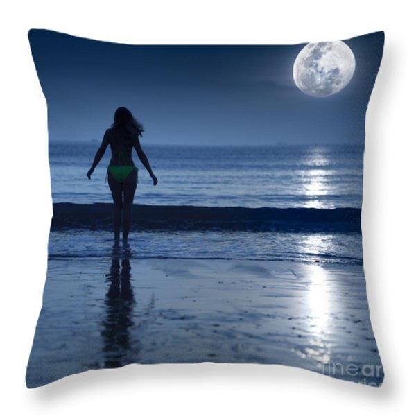 Moonlight Throw Pillow by MotHaiBaPhoto Prints